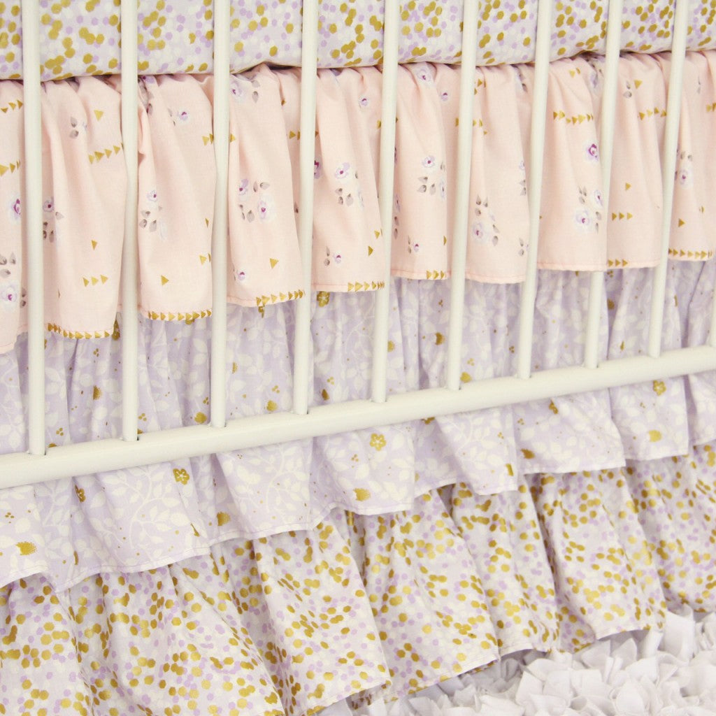 Image of: Lilac And Gold Baby Bedding Sparkly Sweet Caden Lane