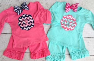 monogram baby outfits
