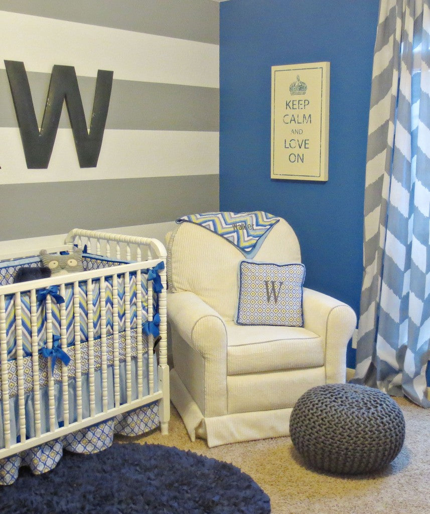 boy chevron nursery