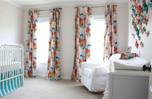 printed nursery curtain