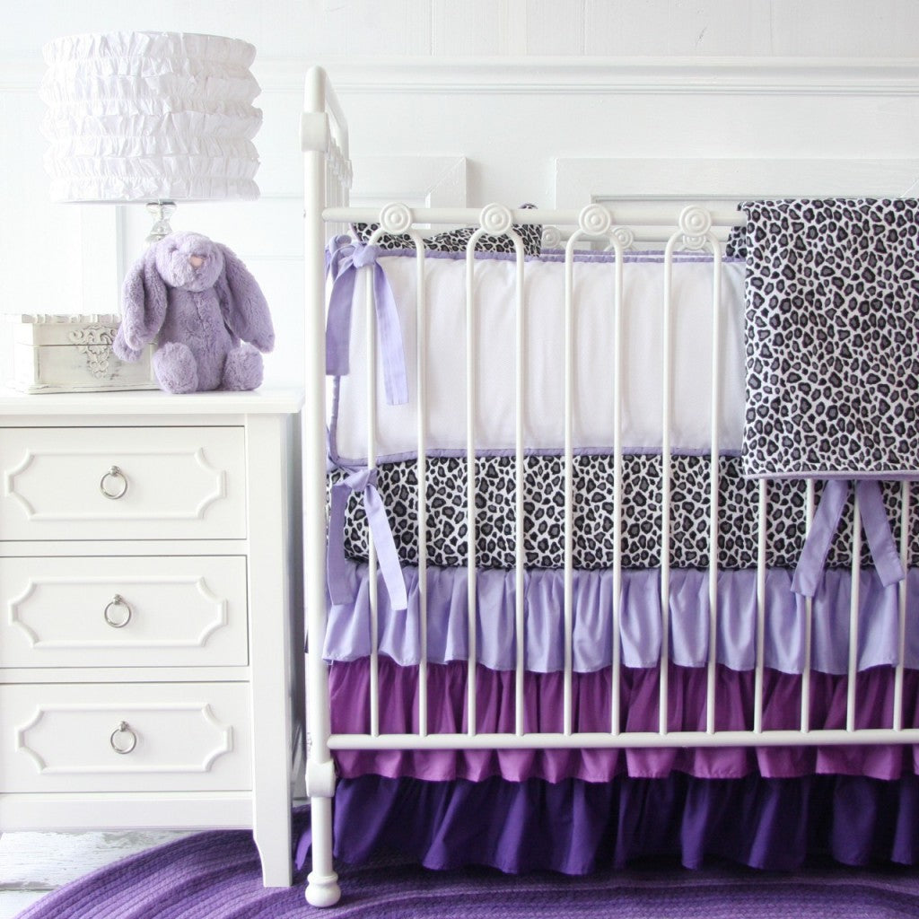 crib bedding purple baby bedding