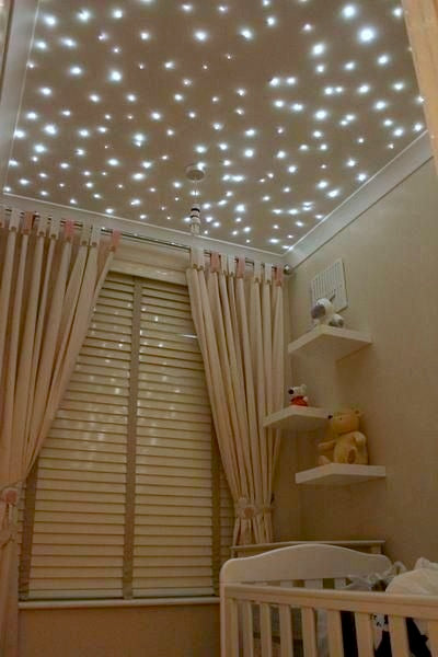 Twinkling lights for a unique nursery ceiling