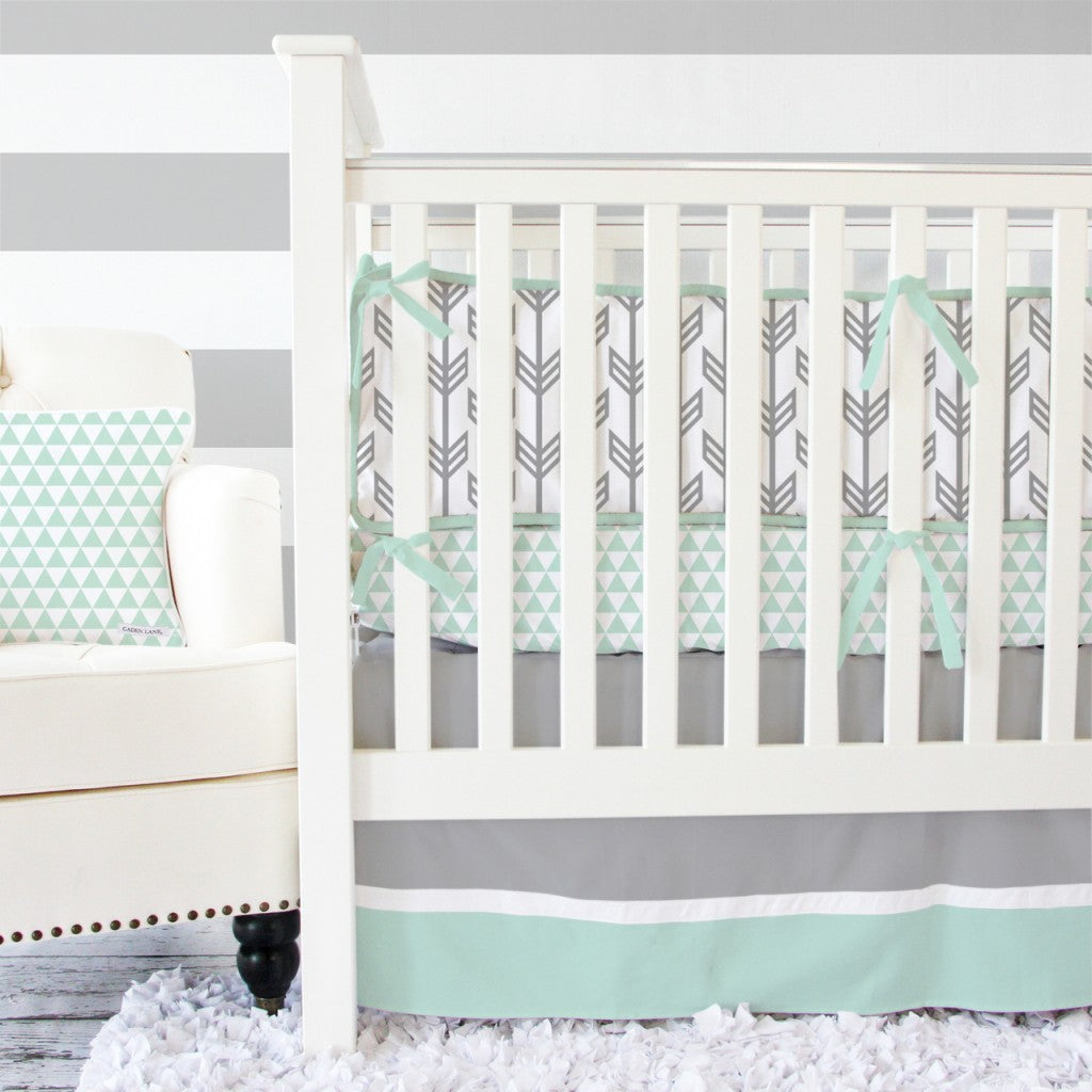 Pink mint and gray baby girl nursery project nursery - Grey And Pink Baby Bedding Girls Nursery Gray Crib Bedding