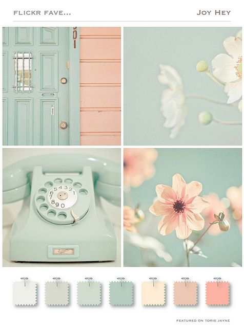 vintage inspired take on the pink and aqua color scheme