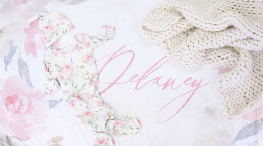 dusty rose knot gown for baby girl