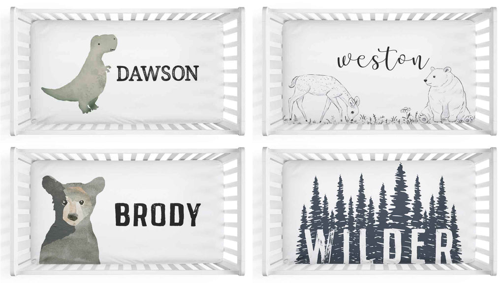 boy personalized crib sheets