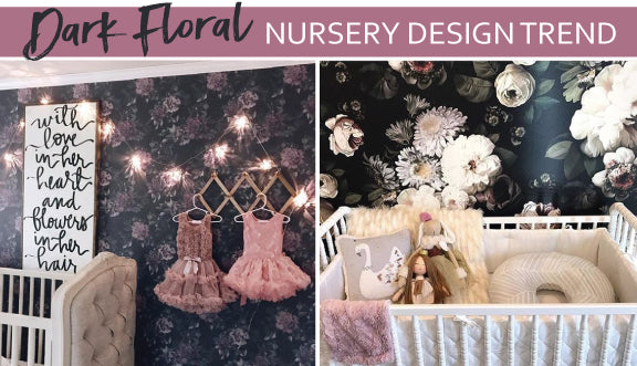 dark floral nursery design trend