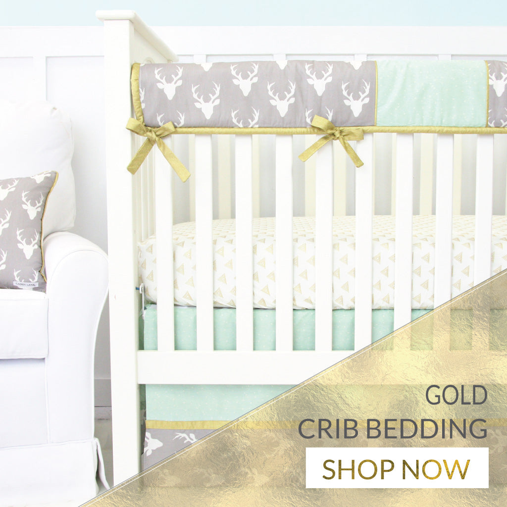 Shop Baby Boy Crib Bedding with Gold Accents