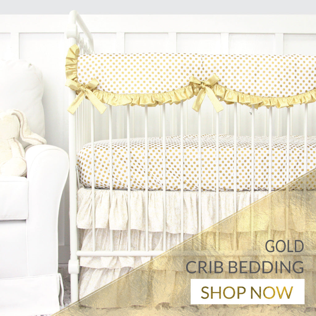 Shop Gold Baby Girl Crib Bedding