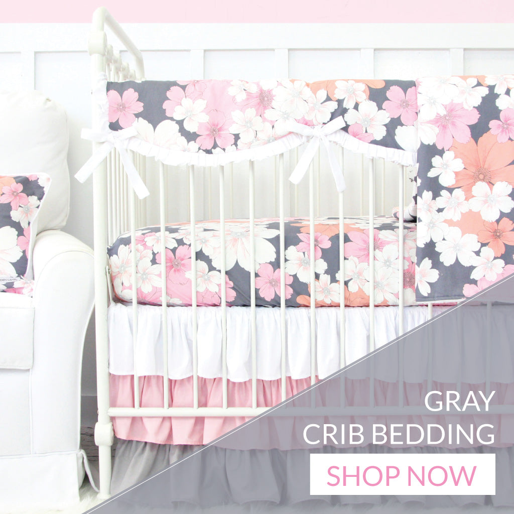 Gray Crib Bedding For Girls