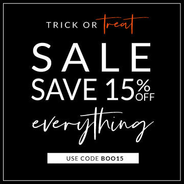 Trick or Treat Sale Save 15% Off Everyting with code BOO15