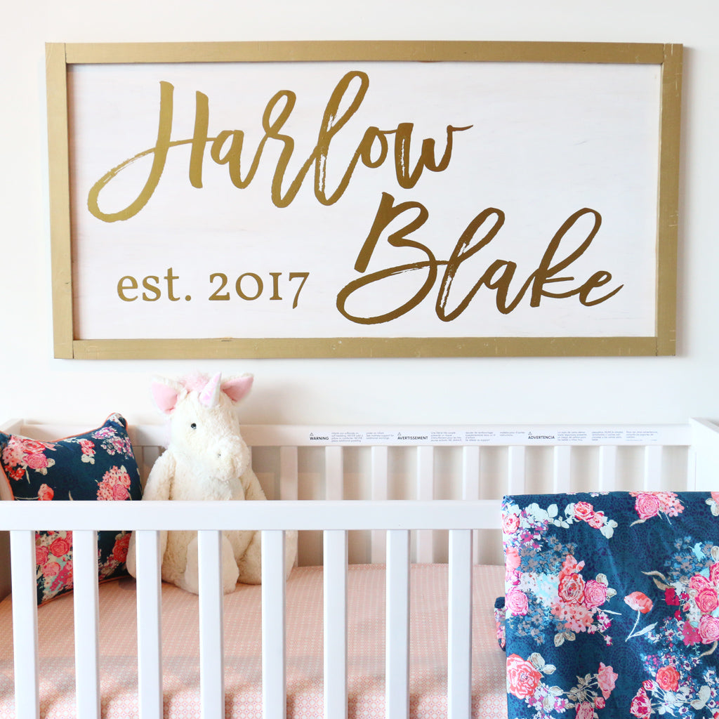 gold wood sign DIY