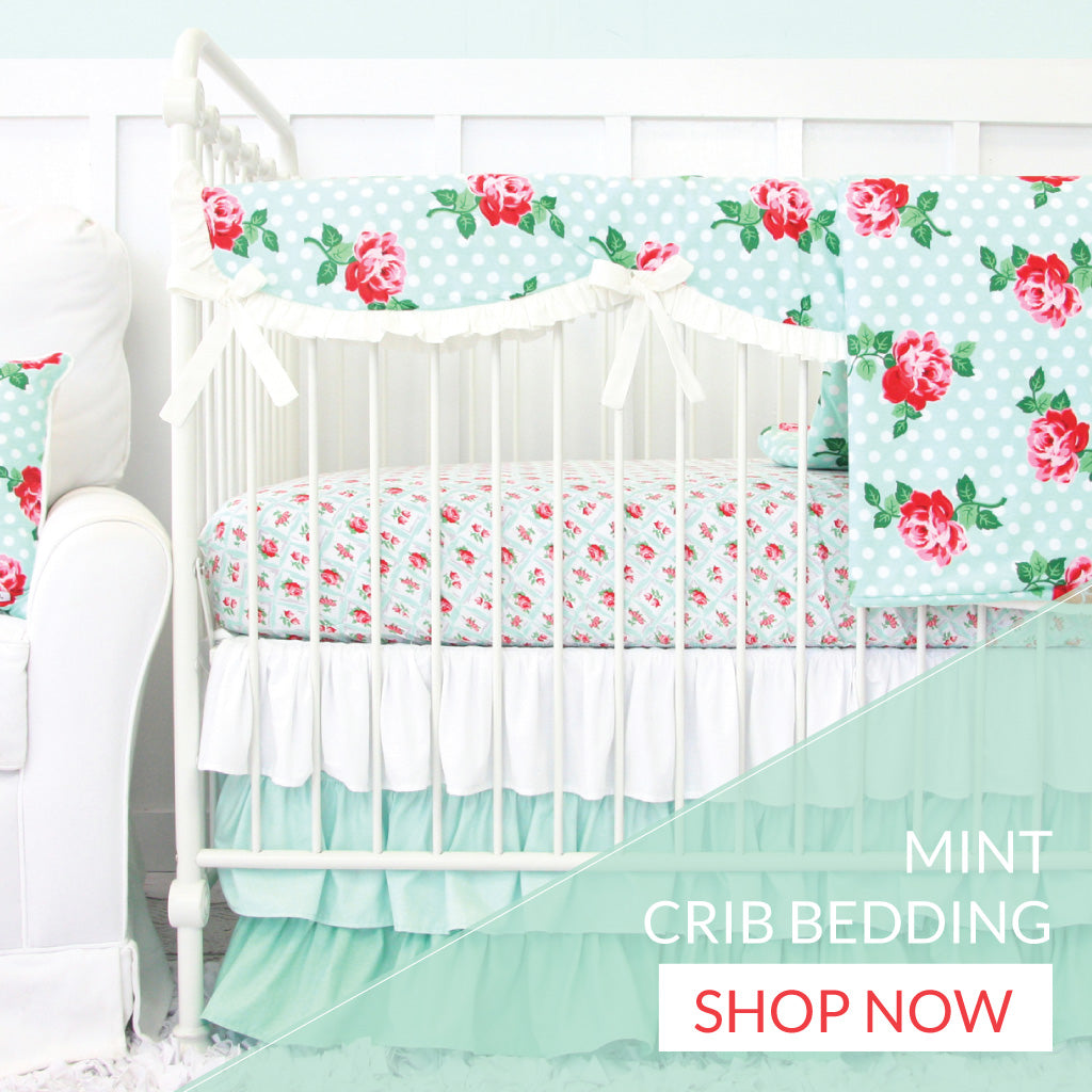 Shop Baby Girl Mint Crib Bedding for Your Nursery