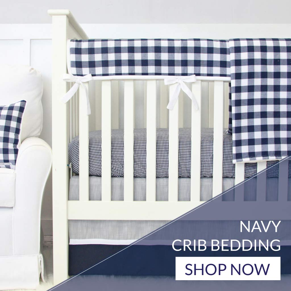 Shop Baby Boy Navy Blue Crib Beddding Sets
