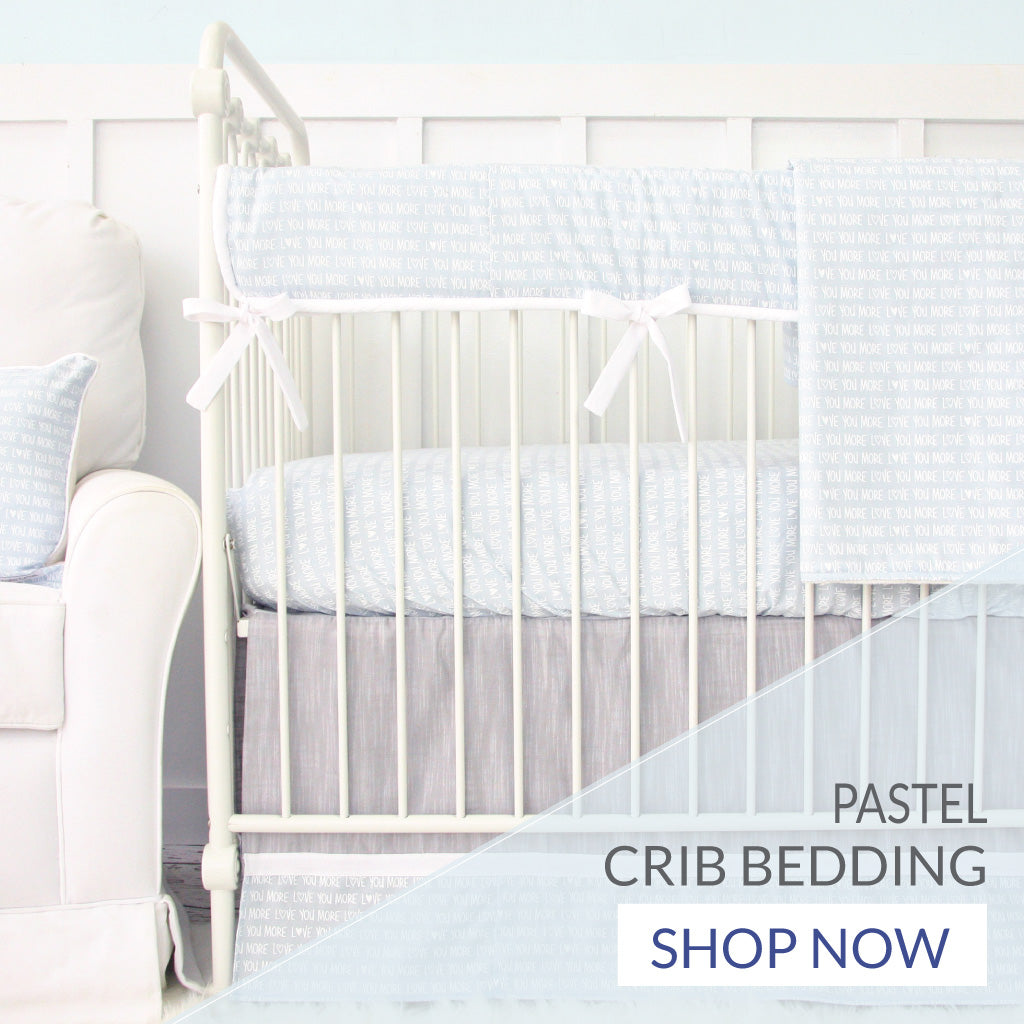 Shop pastel crib bedding for a baby boy