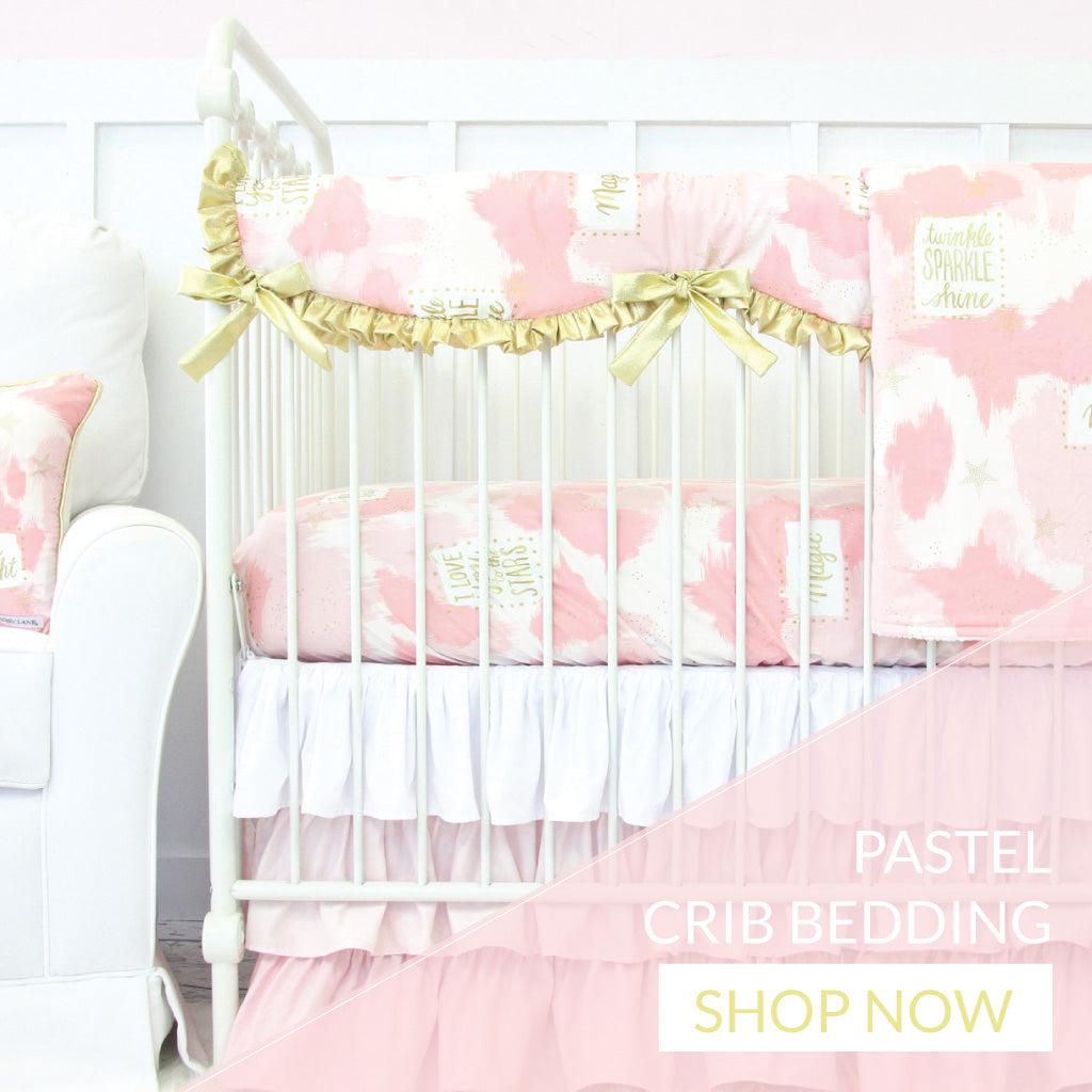 Shop pastel nursery bedding for a baby girl
