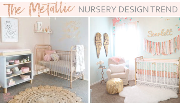 rose gold nursery design trend
