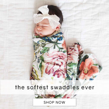 botanical floral swaddle