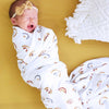 rainbow baby swaddle for newborn