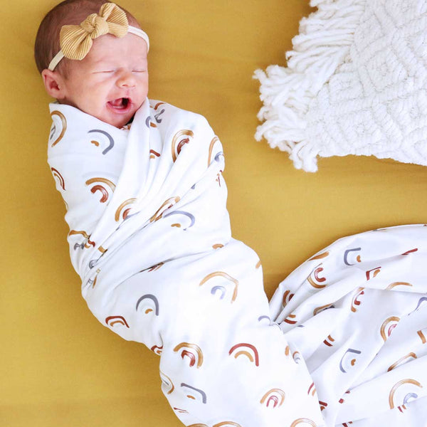Cannon's Earthy Rainbow Oversized Swaddle Blanket