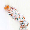 Posey's Earth Tone Floral Oversized Swaddle Blanket