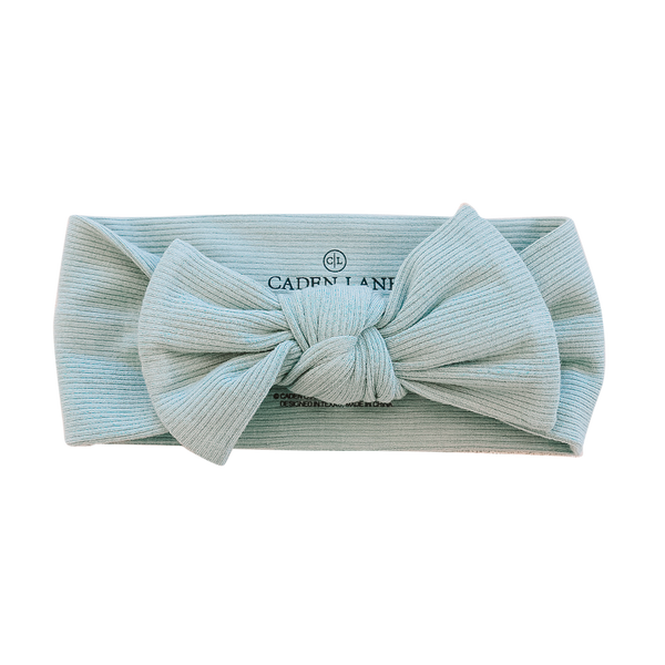 Sea Salt Ribbed Bamboo Large Bow Headwrap*