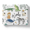 masked animal friends personalized soft toddler blanket