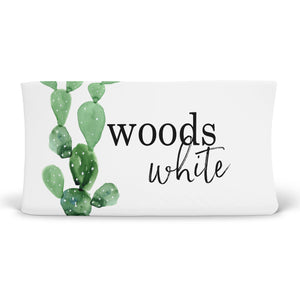 Watercolor Cactus Print Custom Name Changing Pad Cover