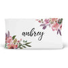 Aubrey's Blush and Burgundy Floral Personalized Fitted Changing Pad Cover