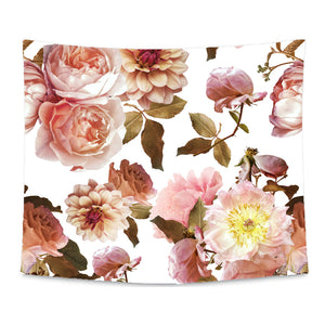 Autumn's Rustic Real Floral Wall Tapestry