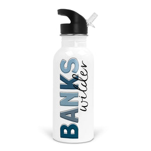 blues boy name water bottle for school