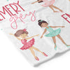 tiny ballerina dancer personalized toddler kid blanket