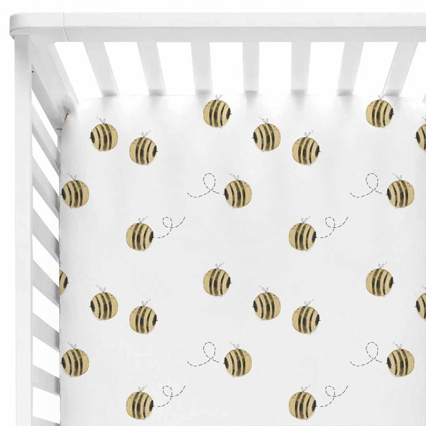 Honey's Bees Crib Sheet