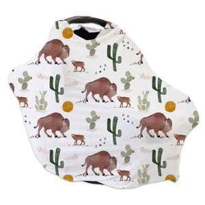 buffalo and cactus print car seat cover and nursing cover