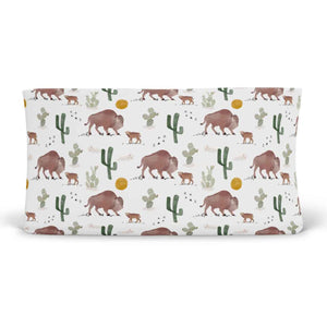 bison and cactus themed nursery changing table