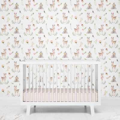 Blakely Blush Deer Removable Wallpaper