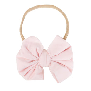 Solid Blush Knit Bow Headband