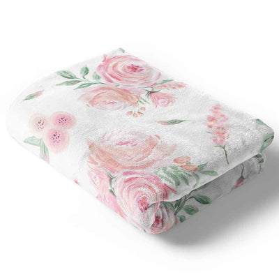 blush rose baby blanket super soft