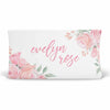 Blush Rose Personalized Fitted Changing Pad Cover