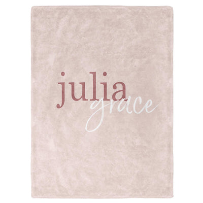 Color Story Blush Personalized Soft Fleece Toddler Throw Blanket