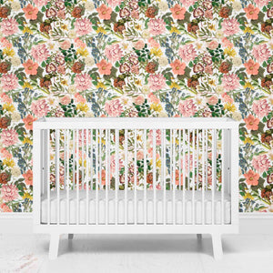 botanical floral removeable wallpaper