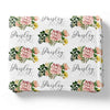 Brinley's Botanical Floral Personalized Toddler Blanket
