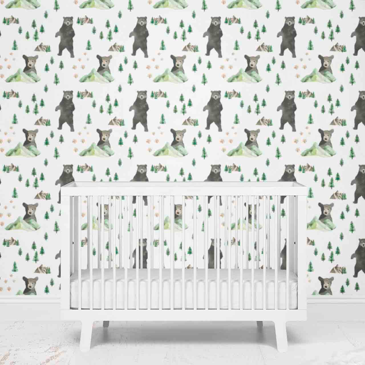 Brody S Bear Mountain Adventure Removable Wallpaper