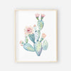 Cactus Blooms Nursery wall art 1
