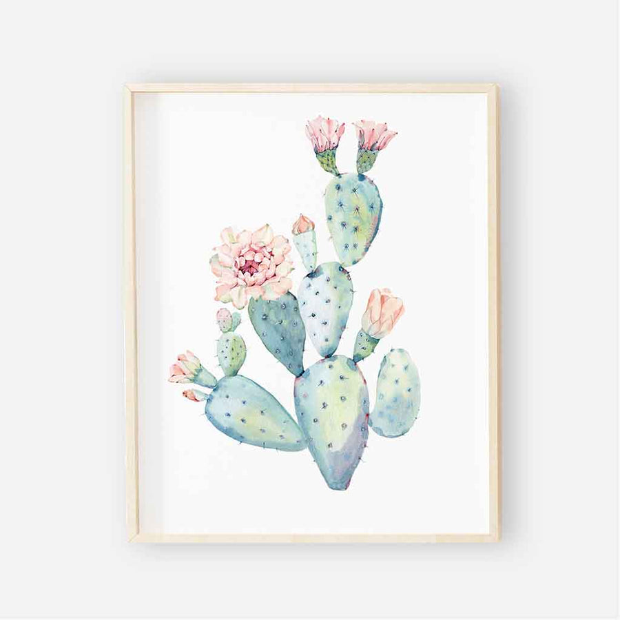 Cactus Blooms Digital Nursery wall art 1