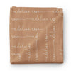 Personalized Camel Baby Name Swaddle Blanket - Script