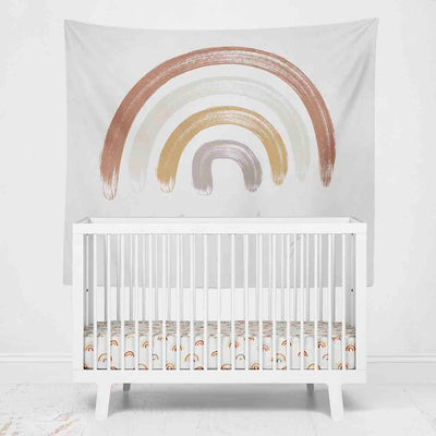 Cannon's Rainbow Personalized Wall Tapestry over crib