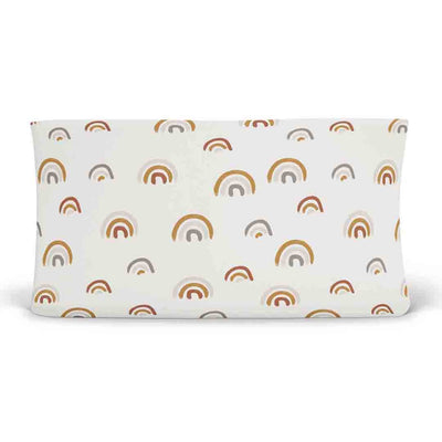 Cannon's Earthy Neutral Rainbow Changing Pad Cover for the nursery