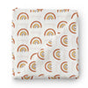 Cannon's Earthy Neutral Rainbow Swaddle with baby's name