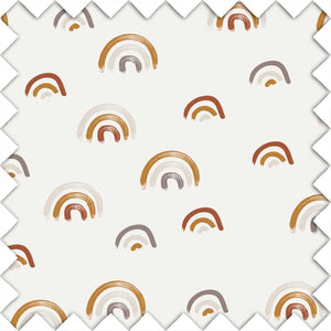 Cannon's Earthy Neutral Rainbow Fabric Swatch